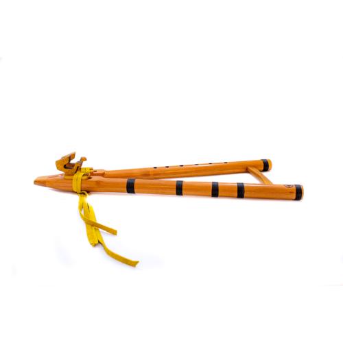 Flauta nativa americana doble tonoF drone