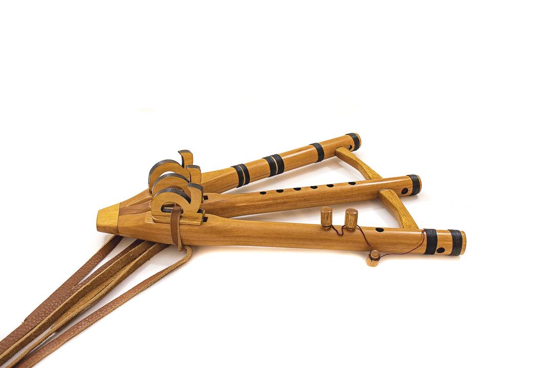 flauta nativa triple